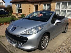 Peugeot 207 GT CC Convertible 1598cc. Petrol. Full MOT and just serviced. Excellent condition.