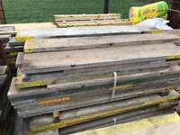 80p per foot various sized scaffold planks / boards