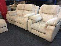 NEW / EX DISPLAY LazyBoy Sadera 2 + 1 Electric Recliner Sofas + Footstool