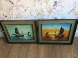 Pair of Japanese paintings