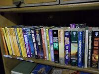 Around 100 scifi books with a few detective books