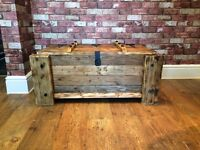 HANDMADE WOODEN CHEST TRUNK - CAN DELIVER