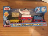 Thomas & Friends My First Thomas & Spinning Harold NEW FREE DELIVERY TRAIN ENGINE RP £20 XMAS GIFT
