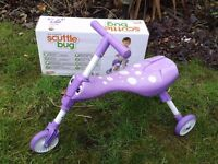 Purple Scuttle Bug Ride on Trike - Boxed
