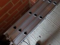 FOR SALE - LADDER - 3 SECTIONS - ALUMINIUM - LIGHT AND STURDY - CAN REACH OVER 5 METERS - £50