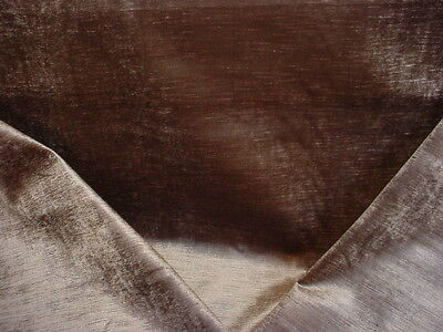 1Y SCHUMACHER EXQUISITE GUNMETAL GREY PALACE VELVET UPHOLSTERY FABRIC