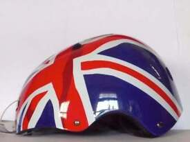 NEW HELMET RULE BRITANNIA, MONGOOSE YOUTH ADULT SKATING CYCLING BMX BIKE BICYCLE Size: M, 52-58 cm