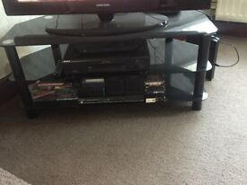 BLACK TV STAND GREAT CONDITION
