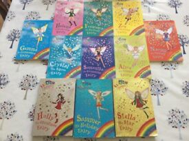 Collection of Rainbow Magic Fairy books.