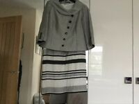 Dress and short grey jacket