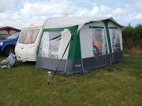 Bailey ranger 380/2 1998, 2 berth with motormover, vgc, £2500 ono, includes full awning and porch
