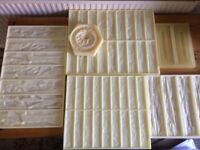 Polyurethane MOULDS,10 pcs lot.FACING BRICK SLIPS MOULD +DECOR MOULD . ENOUGH TO START OWN BUSINESS