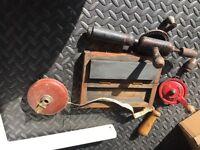 Old tools and padlocks