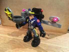 VGC RARE 2001 Fisher Price Mattel WILLY STOP Rescue Heroes action figure figures. 6 inch tall