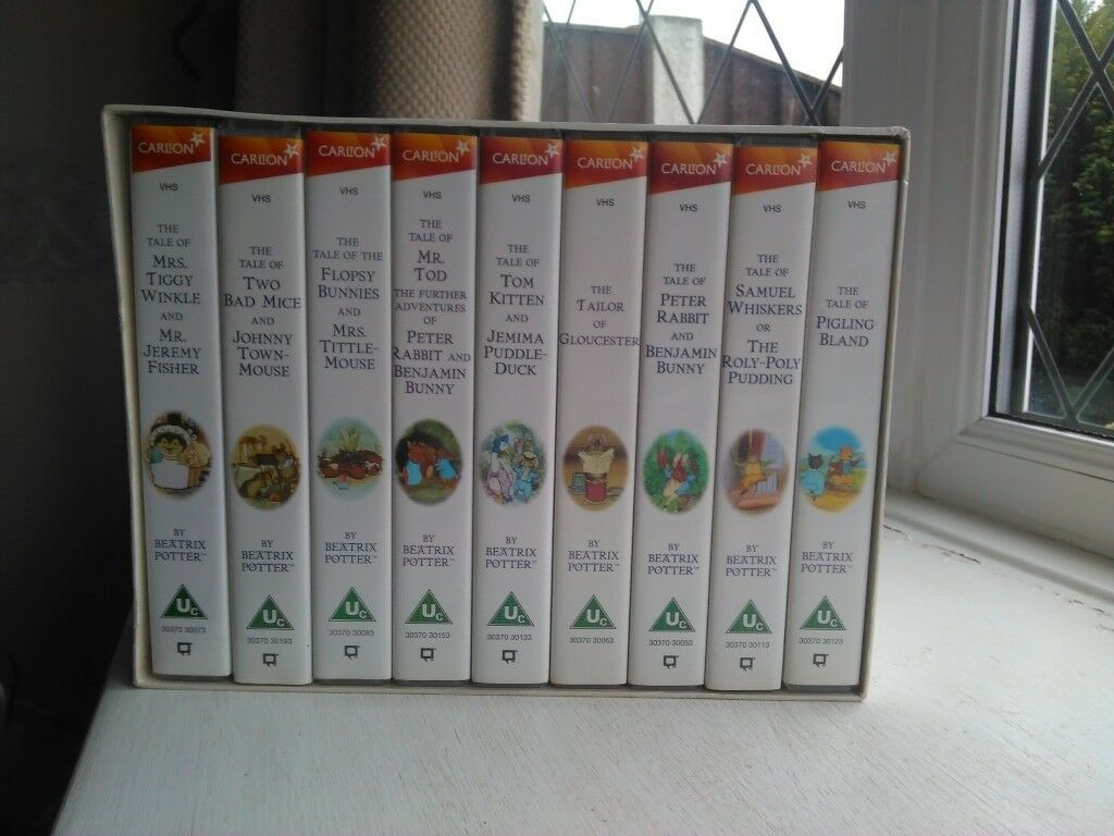 Childrens Peter Rabbit & Friends VHS Video Collection