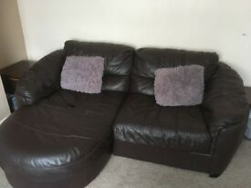 2 seat sofa and large chair