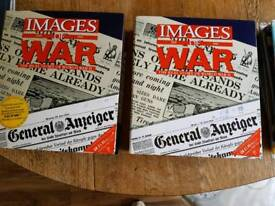 A bundle of images of war magazines
