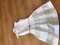 Girls Dress and jacket age 12 Ivory gold
