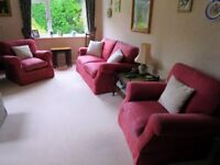 "Laura Ashley ""Padstow"" Sofabed and two chairs"
