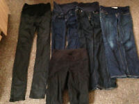5 Pairs of maternity Jeans 4 Pairs fit size 8 1 Pair fit 4/6 over bump and under bump will post