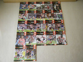 SUNDERLAND AFC MATCHDAY PROGRAMMES 2010-2011 X 22 PLUS OFFICIAL TEAM SHEETS X 22