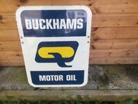 Duck hams advertising oil sign