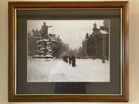 Large Old Picture c1900 His Majesty's Aberdeen in nice frame