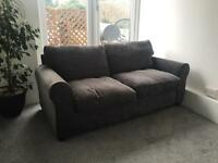 Grey Chenille Sofa Bed (as new)