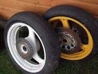 suzuki gsxr400r suzuki rgv250 wheels with race slicks