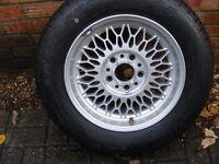 "BMW 5 SERIES E34 17"" Alloy rim and wheel."