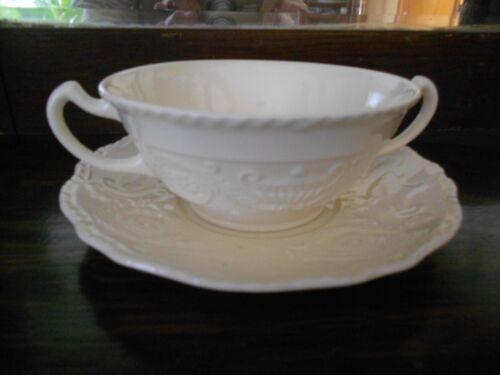Steubenville White Adam Antique Cream Soup Bowl with underliner  Multi Avail