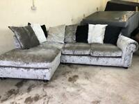 Silver dfs corner sofa, couch, suite, furniture 🚛🚚
