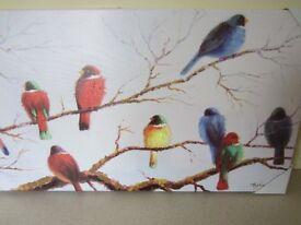 Canvas painting - birds
