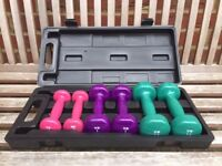Ladies Weights / Dumbbell Set with Cary Case