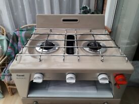 Gas cooker for caravan/motorhome/boat.as new condition.not needed now.2 burners grill and oven