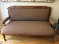 Antique High Back Sofa