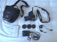 DSLR Sony A200 incl. Camera Bag + Original Accessories + 4GB Memory Card