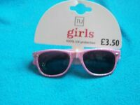 New Young Girls Pink Glitter Sunglasses IP1