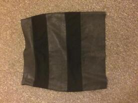 Size 10 leather/suede skirt