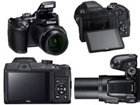 Nikon Coolpix B500 Digital 40x Zoom Bridge Camera: Mint Condition, Black.