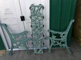Cast Iron Bench ends and back