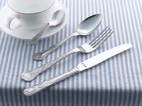 Amefa Kings 18 / 10 Stainless Steel Cutlery Set - 6 person / 44 piece - Unused