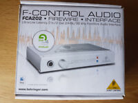 Behringer FCA202 Firewire Audio Interface 2 IN and 2 OUT - Excellent Condition