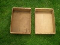 2 Vintage Wooden Garden Planters / Storage
