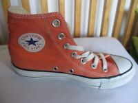 Converse High Tops - Orange - Size UK 3