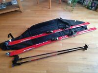 ATOMIC SKIS POLES AND CARRY BAG AS NEW