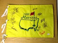 Masters Pin Flags - Auto'd and Authenticated - WILL TRADE