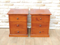 Welsh Pine Bedside cabinets 3 drawers in each (Delivery possible)
