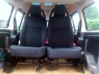 Land Rover Discovery 2008 front cloth seats, airbags, may also suit van or camper conversion,