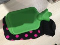 New Hot Water Bottle with Knitted Cover